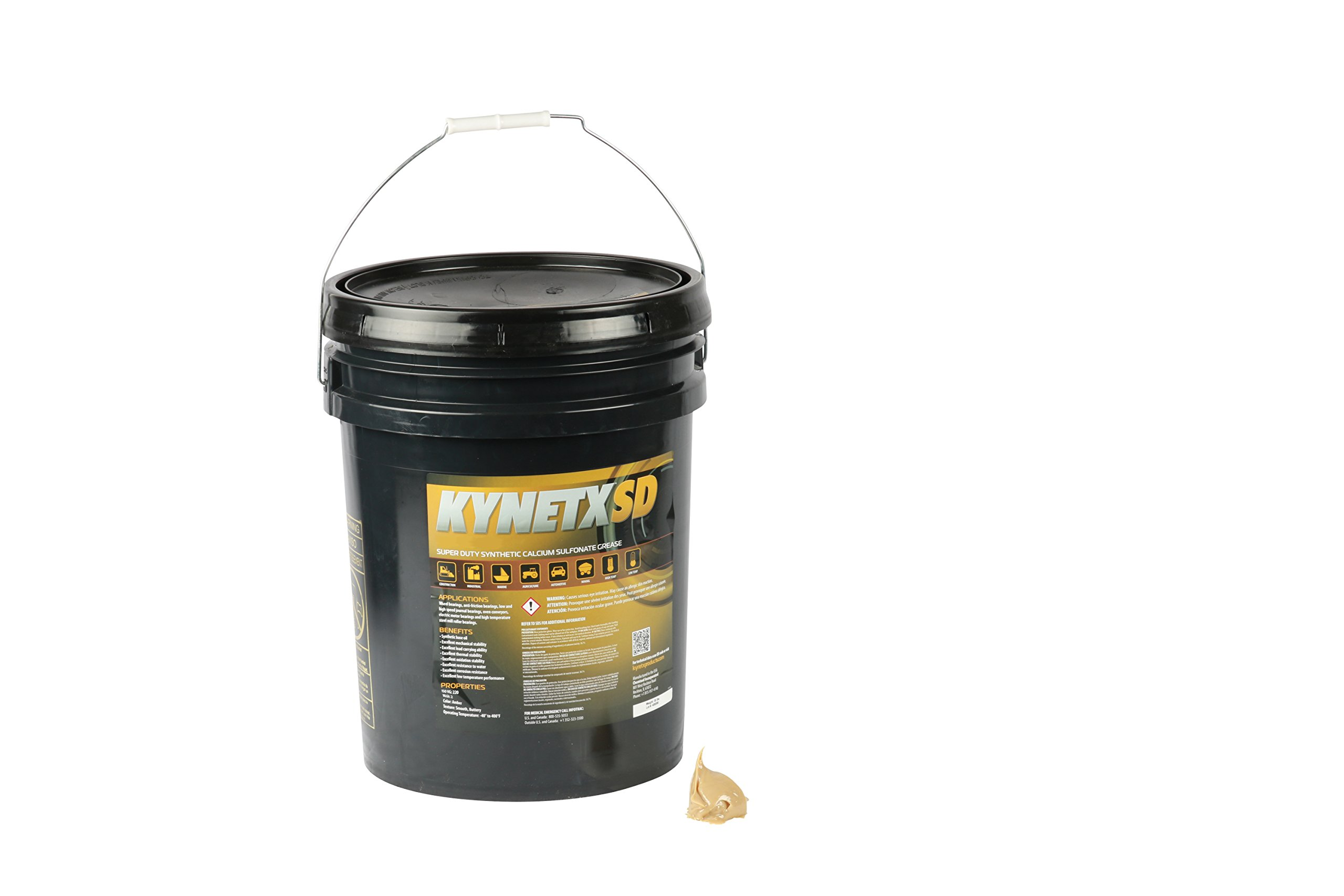 Kynetx Calcium Sulfonate Grease, SD CSN26, 35 Lb. Pail, CSN2645000-KN5014, OBCS Super Duty for Heavy Duty Equipment, Low Temp Extreme Pressure, Construction, Automotive, Mining, Marine, Grade 2