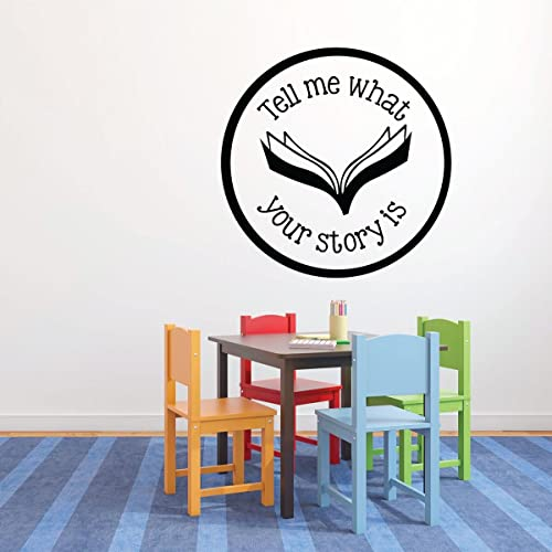 Amazon.com: Classroom Wall Decor - Tell Me What\'s Your Story - Vinyl ...