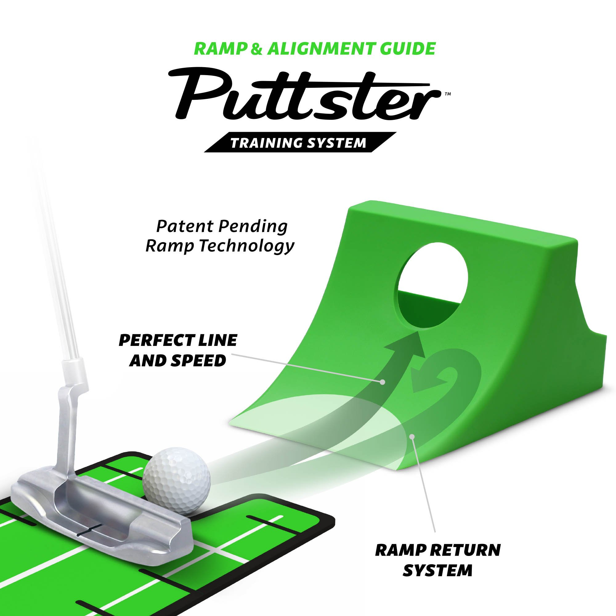 GoSports Puttster Golf Putting Training Aid - Alignment Guide with Cup Ramp Return System for Indoor or Outdoor Practice by GoSports (Image #4)