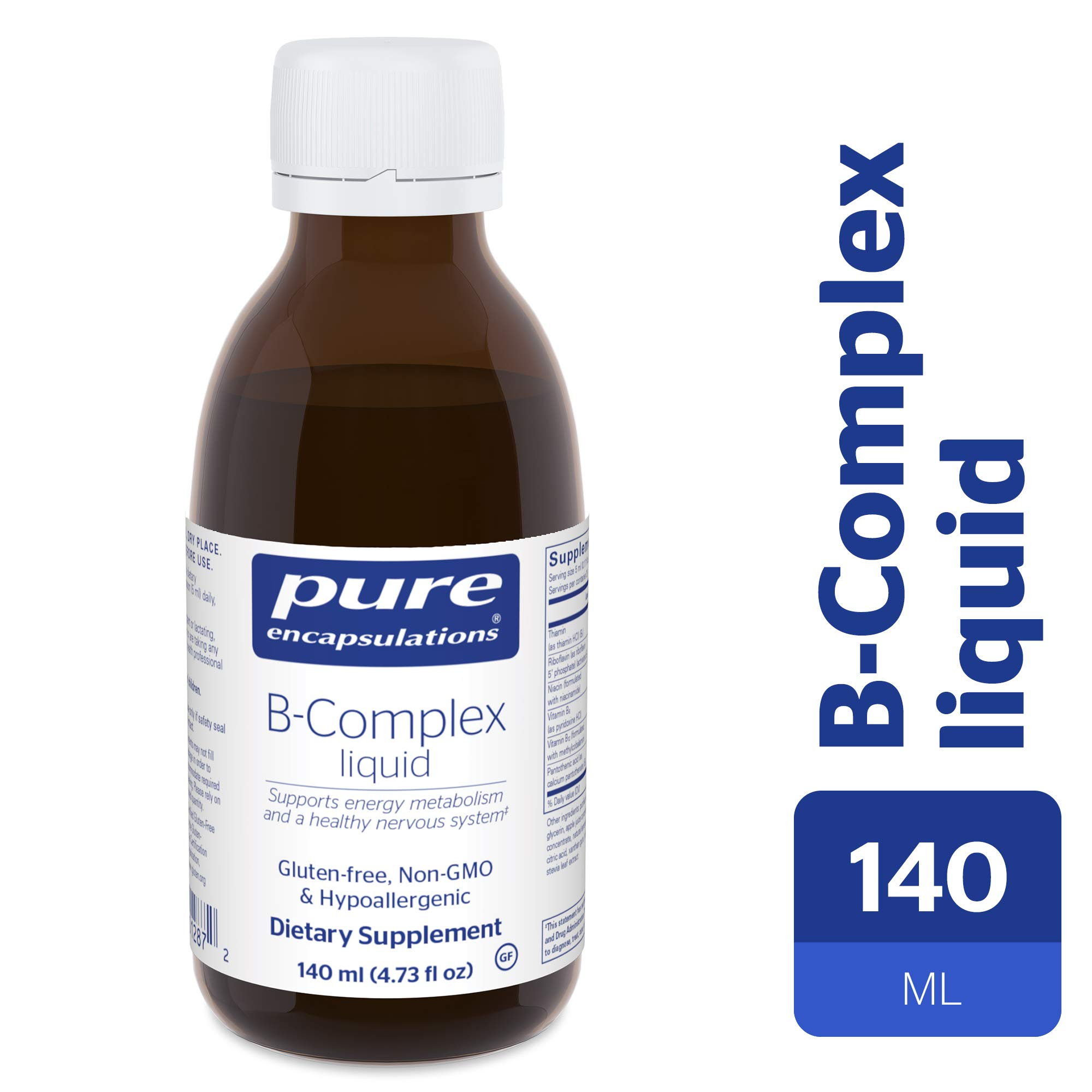 Pure Encapsulations - B-Complex Liquid - B Vitamins to Support Energy Metabolism and a Healthy Nervous System* - 140 ml (4.73 fl oz) by Pure Encapsulations