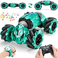 RC Stunt Car Toy Remote Control Car with 2 Sided 360 Rotation Gesture Sensor Toy Car 4WD Transform Off Road Vehicle for…