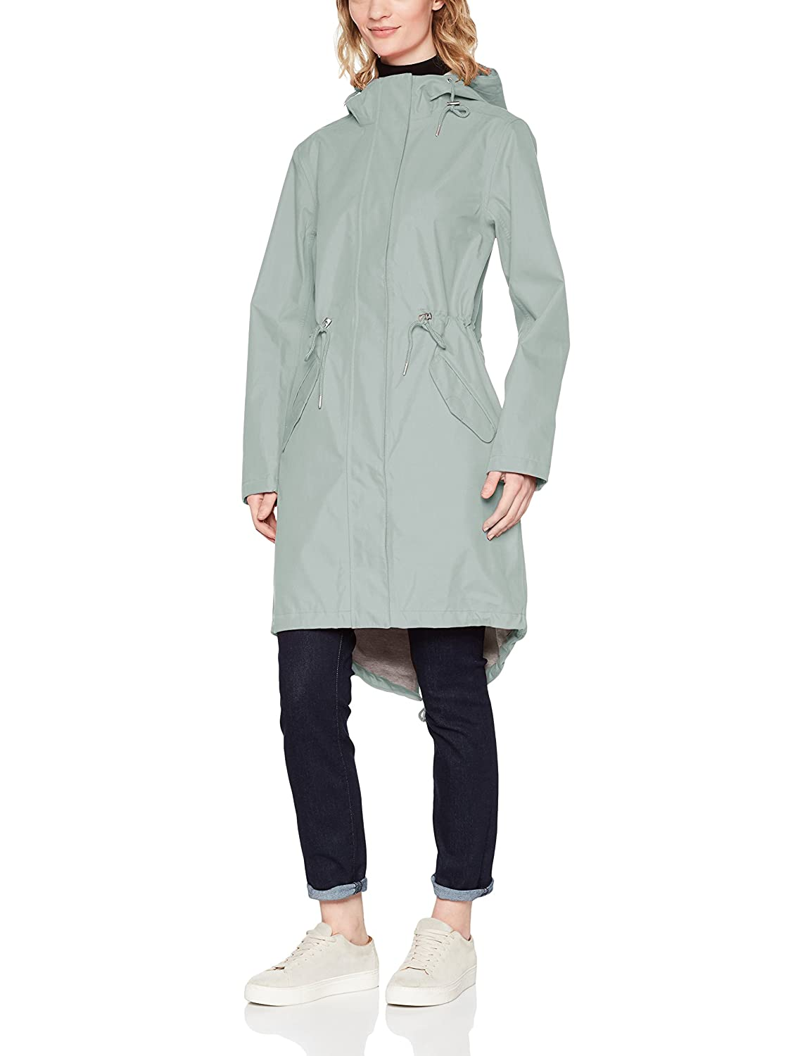 TALLA 42. Ilse Jacobsen Chaqueta Impermeable para Mujer