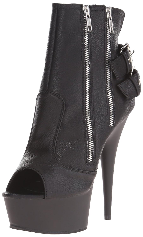 Pleaser Delight-1015, Botines para Mujer39 EU|Negro (Negro (Blk Faux Leather/Blk Matte))
