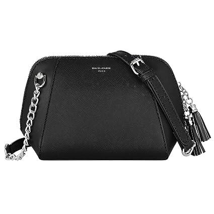 ad686595134 David Jones - Women's Small Chain Crossbody Bag - Trapeze Shoulder Handbag  PU Leather - Messenger Crossbody Bag Zipper Mini - Evening Party Clutch ...
