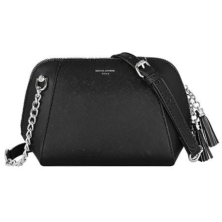 3377eaef4d2 David Jones - Women's Small Chain Crossbody Bag - Trapeze Shoulder Handbag  PU Leather - Messenger