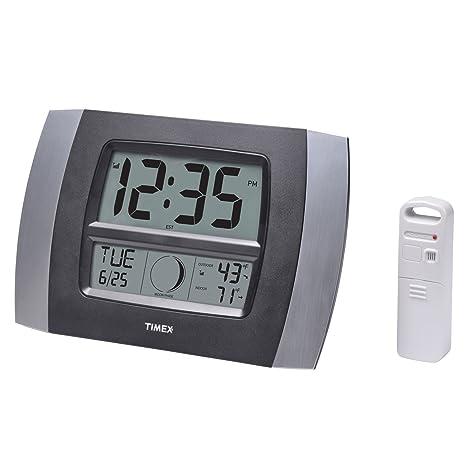 Timex 75331t Atomic Digital Reloj con Calendario y Temperatura, Fase de la Luna, 11.5