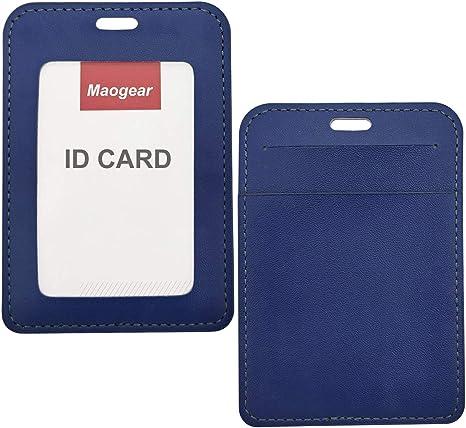 5 x Plastic ID Badge Card Holder Pocket Wallet /& Neck Lanyard PICK A COLOUR lot