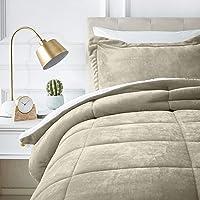 AmazonBasics Micromink Sherpa Comforter Set