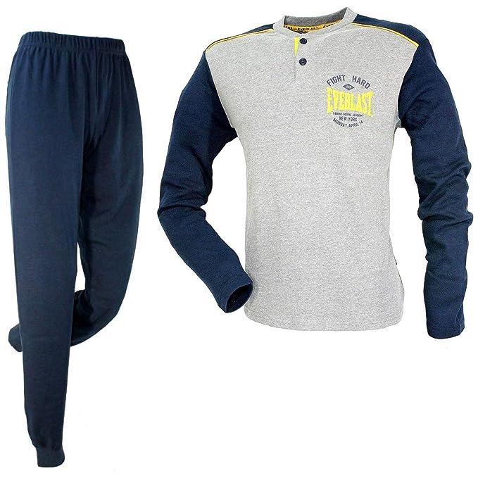 fb616cf96821 Pigiama Uomo Caldo Cotone Interlock S/46-M/48-L/50-6/XL-7/XXL EV31001:  Amazon.it: Abbigliamento