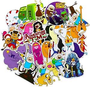 Adventure Time Stickers, Cartoon Vinyl Waterproof Laptop Sticker Skateboard Pad MacBook Car Snowboard Bicycle Luggage Decal 29Pcs Pack