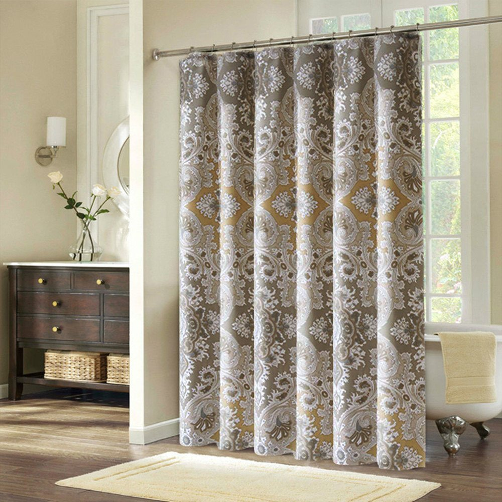 Amazon.com: 72x72 Shower Curtain Fabric Mildew Resistant, Ufriday ...