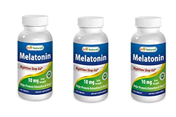 Best Naturals Melatonin 10mg 120 Tablets - Drug-Free Nighttime Sleep Aid - Melatonin for