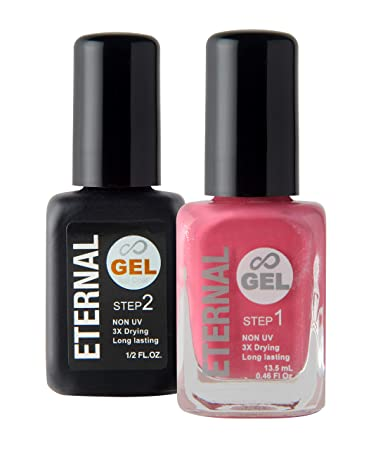 Amazon.com: Eternal Gel Nail Polish Kit - Color & Clear Coat Gel No ...