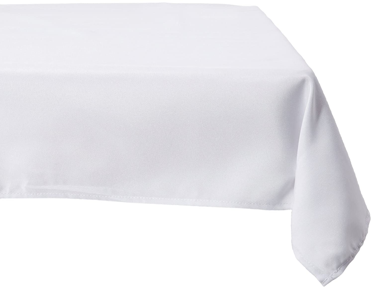 Amazon.com: LinenTablecloth 70 Inch Square Polyester Tablecloth White: Home  U0026 Kitchen