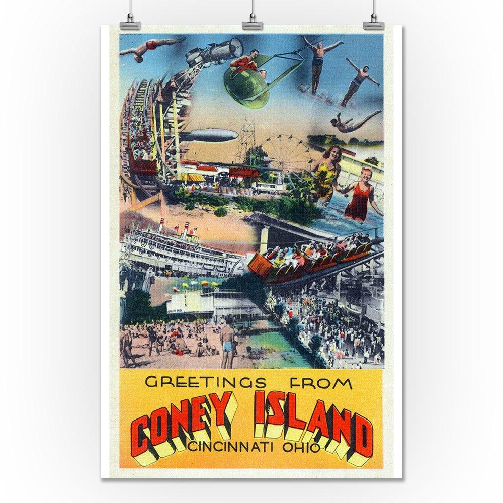 Amazon Cincinnati Ohio Coney Island Amusement Park Greetings