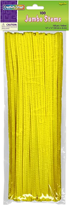 Creativity Street Chenille Stems//Pipe Cleaners 12 Inch x 6mm 100-Piece Black