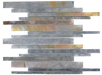 Mosaique Carrelage Ardoise Pierre Naturelle Rouille Bâtonnets ...