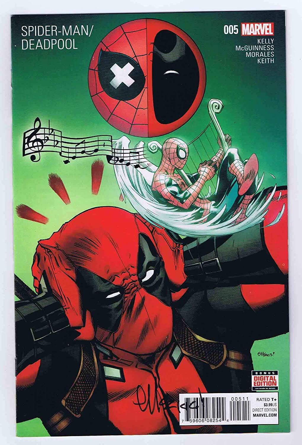 Spider-Man Deadpool #5 Signed w/COA Ed McGuinness Marvel Comics 2016 VF\NM
