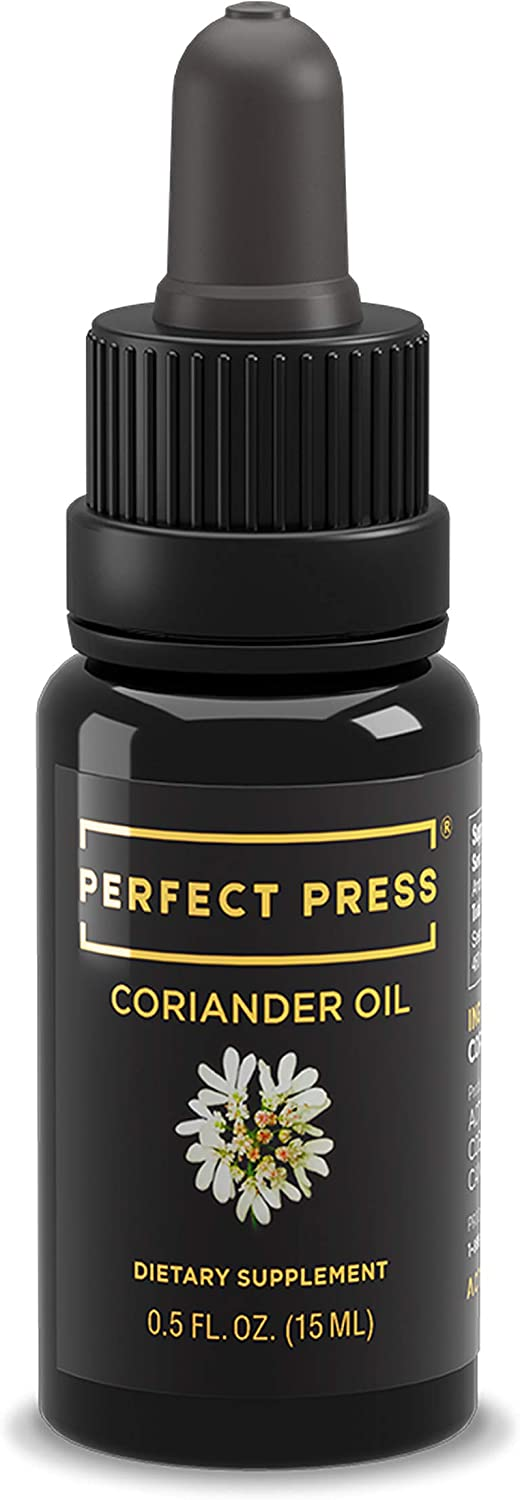 Activation Products, Perfect Press Organic Coriander Oil or Cilantro Oil - Powerful Coriander Seed Supplement - 100% Coriander Seed Oil for Immunity and Digestive Support, 15ml / 0.5 Fl.Oz.