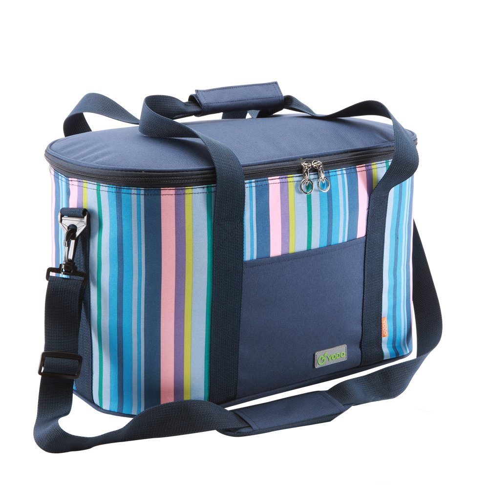 Yodo 25L Collapsible Soft Cooler Bag - Family Size Roomy for Reunion, Party, Beach, Picnics, Sporting Music Events, Everyday Meals to Work by yodo