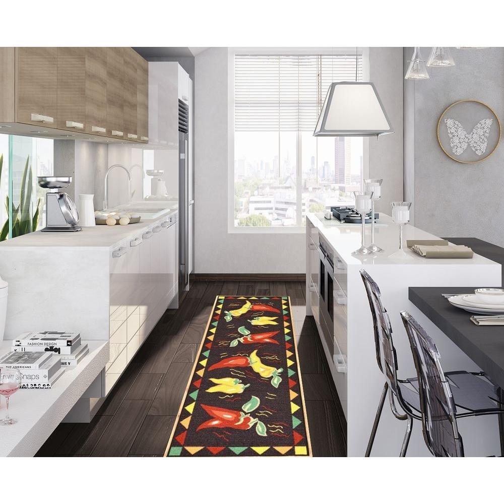 Amazon.com: Ottomanson Siesta Collection Kitchen Hot Peppers Design ...