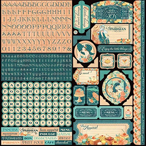 graphic-45-4501441-cafe-parisian-die-cut-cardstock-stickers-6-sheet-pack