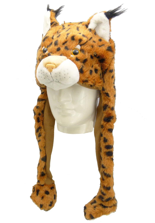 chapeau en peluche ' lynx ' pour le carnaval ou la fête