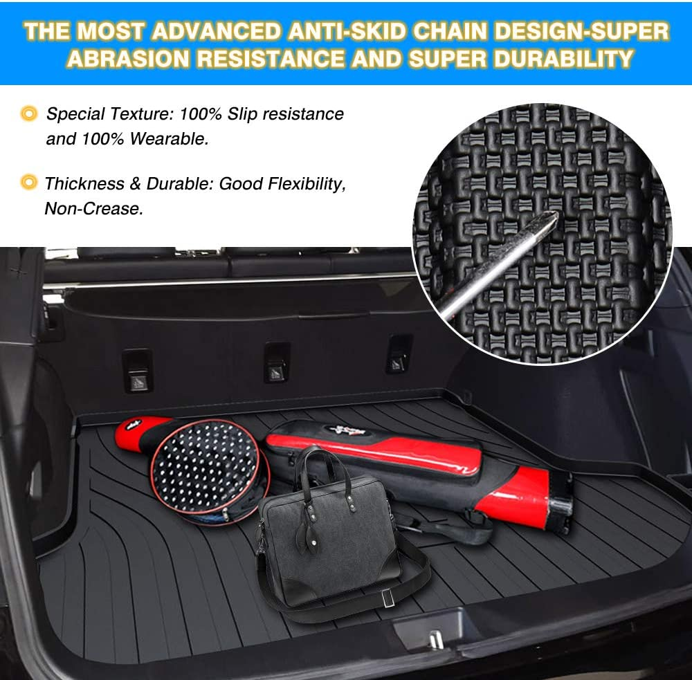 Mixsuper Cargo Liner for 2019 Outback TPO All Weather Rear Durable Odorless 3D Trunk Floor Mat Custom Fit Subaru Outback 2015 2016 2017 2018