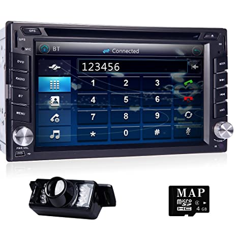6.2 doble 2din HD estéreo del coche CD reproductor de DVD GPS Navigation Radio Bluetooth +