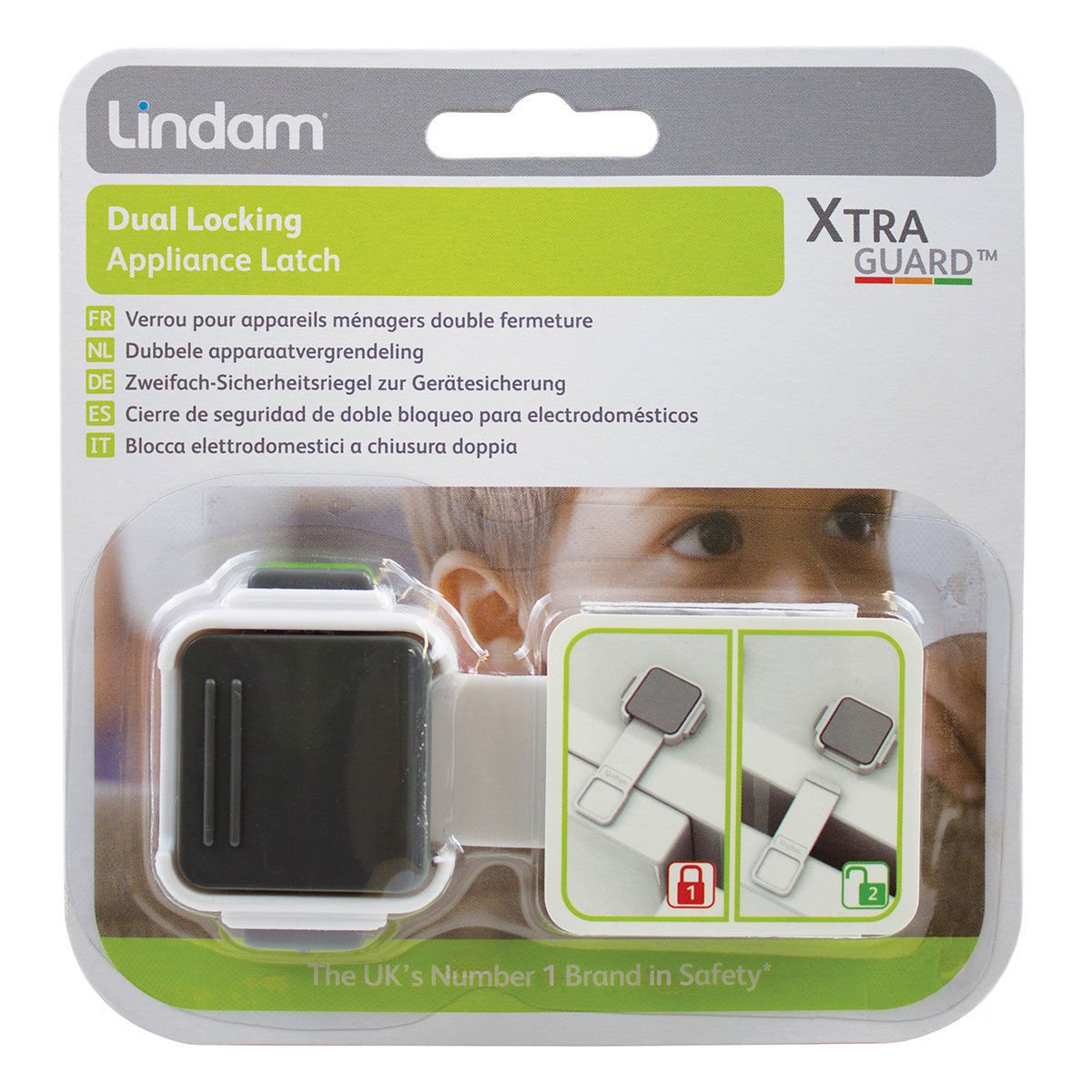 Baby Dual Locking Appliance Latch Double Lock Ultimate Safety Lindam Xtra Guard osigukltd