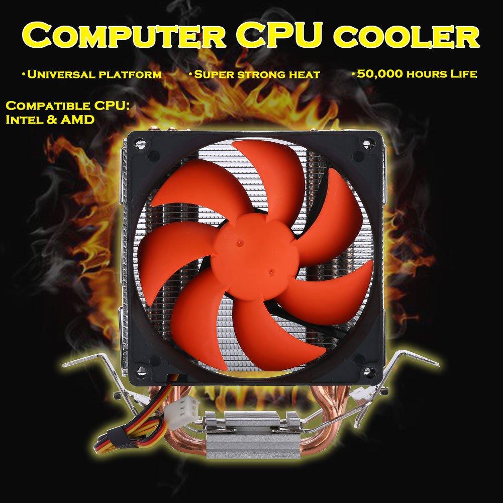 f7f74f3820270 Hongfei Ventilador de CPU 3 Heatpipes Ventilador de 90mm para Intel  AMD  Intel LGA 775 ...