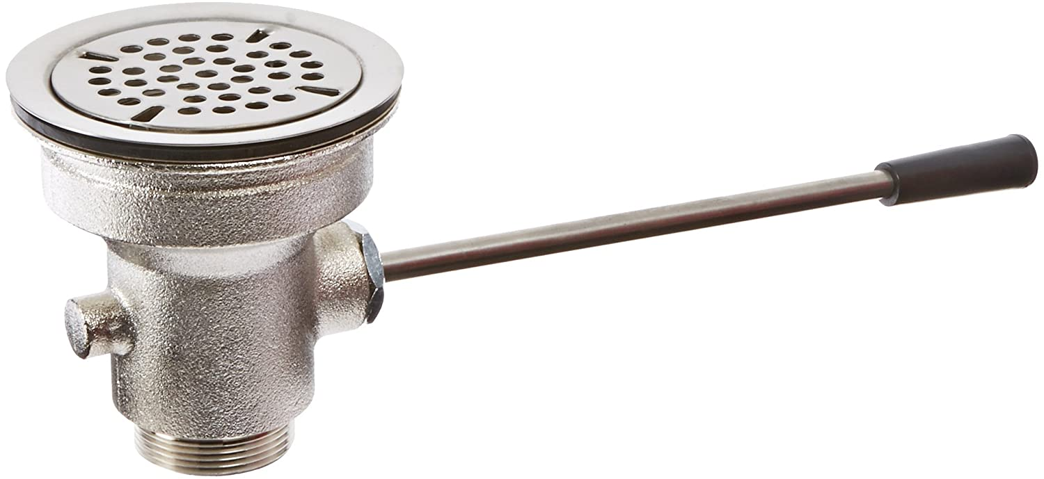 Fisher 24120 Lever Waste Valve with Flat Strainer