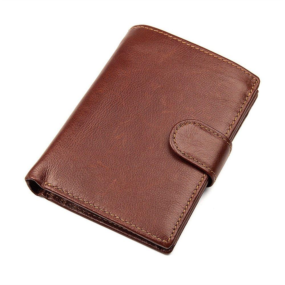 ... de cuero genuino de los hombres Cartera de los hombres Cartera de los hombres Monedero corto Bolsos de la muñeca Bolso de embrague ocasional de negocios ...