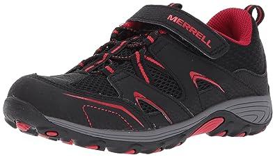 Trail Chaser Hiking Shoe (Little Kid/Big Kid),Black/Red,1 Medium US Little Kid Merrell