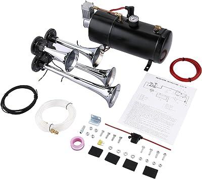 Juane 150DB Train Air Horn Kit for Trucks, 4 Trumpet Super Loud Air Horn