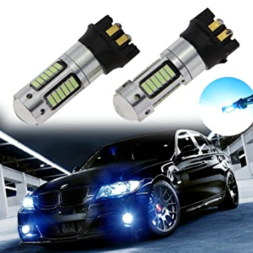 Xotic Tech 2 x error libre Xenon Blanco PW24 W 30-SMD LED bombillas para BMW F30 Serie 3 DRL luces de conducción diurna: Amazon.es: Coche y moto