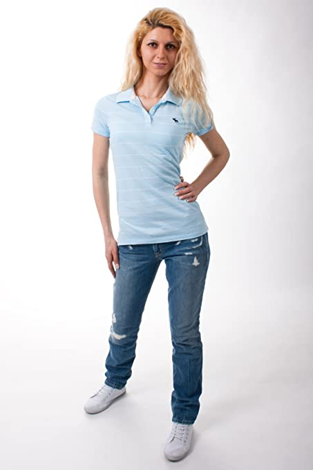 Abercrombie & Fitch Mujer Polo 10040756 Amarillo/Blanco Medium ...