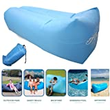 Inflatable Lounger, Easy Setup, Waterproof Air Lounger with Thicker Fabric, Portable Lazy Lounger Inflatable Sofa Couch, Outdoor Sofa for Camping, Hiking, Swimming Pool, Beach, Garden , Travelling