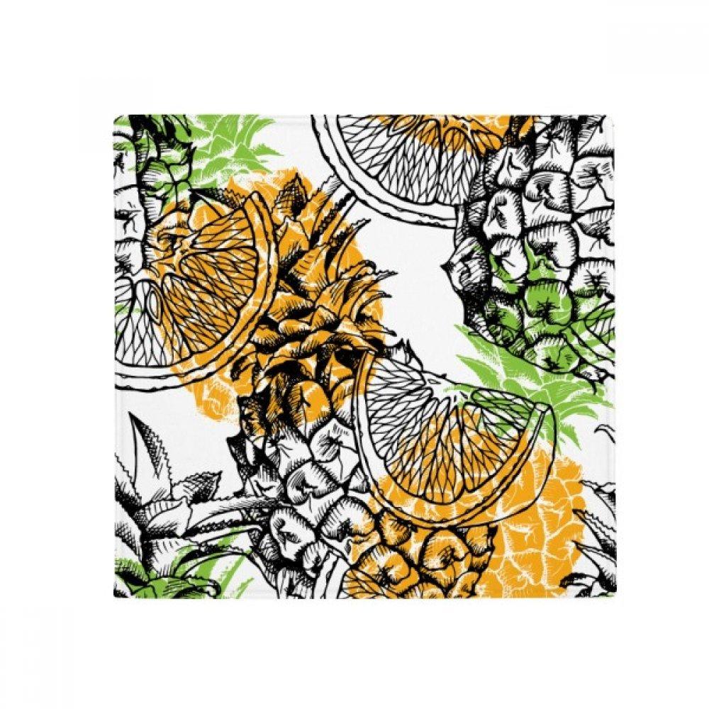 DIYthinker Yellow Pineapple Lemon Tropical Fruit Anti-Slip Floor Pet Mat Square Home Kitchen Door 80Cm Gift