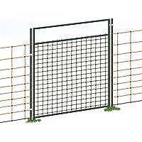 Puerta acceso a cercado eléctrico con malla electrificada