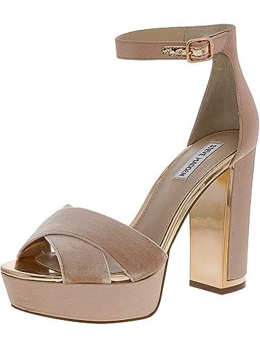 abff4775af9 Amazon.com | Steve Madden Women's Rivers Satin Blush Ankle-High Pump ...