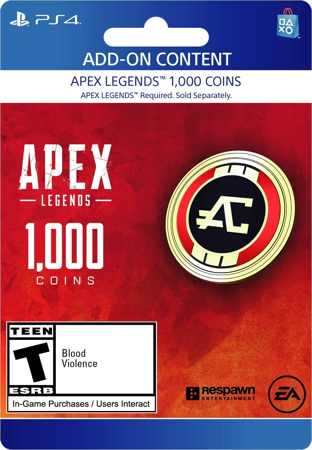 Amazon com: Apex Legends - 1,000 Coins Virtual Currency - PS4