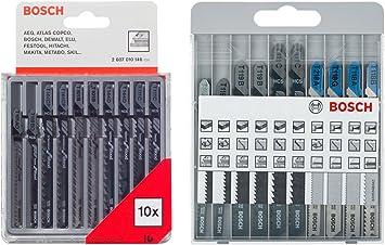 Bosch 2 607 010 630 - Herramienta + Bosch 2607010146 - Cuchilla de sierra caladora (pack de 10): Amazon.es: Bricolaje y herramientas