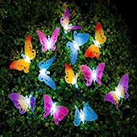 LEDMOMO Led Solar String Light Multi Color Butterfly Fairy Lights Waterproof outdoor light Home Garden Patio Lawn Party Decor Lighting