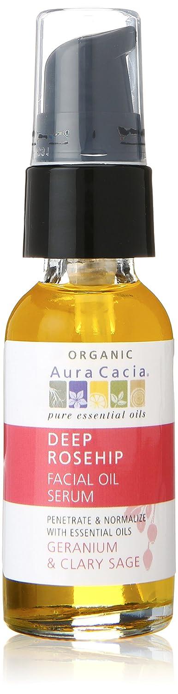 Aura Cacia Deep Rosehip Facial Oil Serum, 1 Fluid Ounce 051381997588