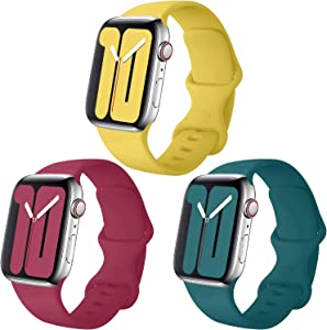 Misker Pack 3 Compatible with Apple Watch Band 38mm 40mm 42mm 44mm,for iWatch Series 5, 4, 3, 2, 1