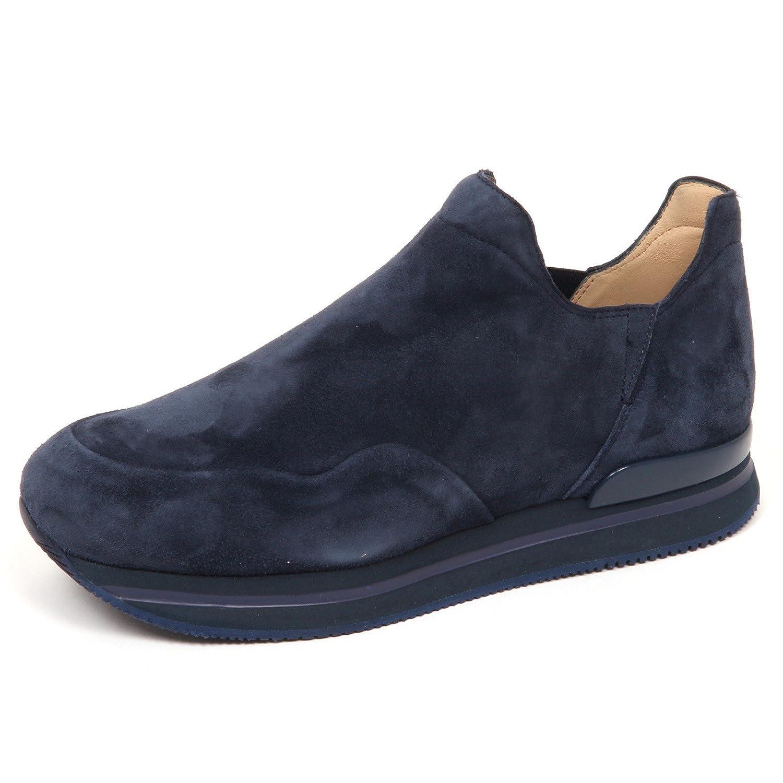 E4782 sneaker donna blu HOGAN H222 scarpe suede slip on shoe woman
