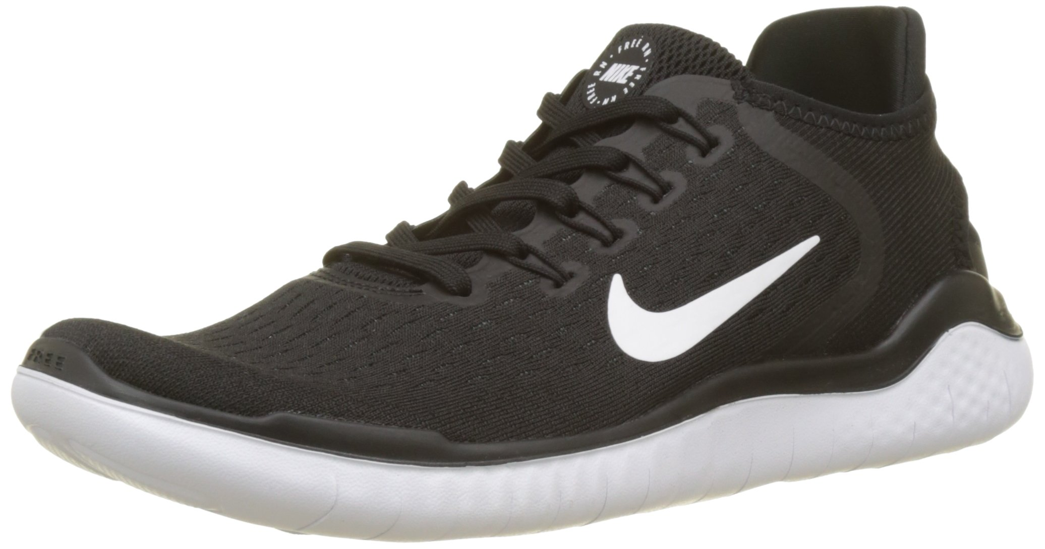 Nike Men's Free RN 2018 Running Shoe Black/White Size 7.5 M US