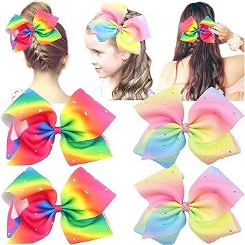 Rainbow Glitter Cocomelon 5 Hair Bow