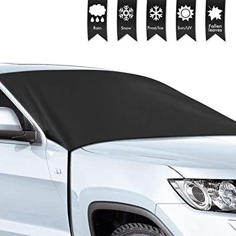 Car Sunshades with Magnetic Edges Snow for Cars Vans,Car Windshield Snow Cover